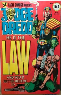Judge Dredd comics benzi desenate prima aparitie