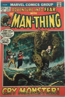 Adventure into fear man-thing solo benzi desenate vechi