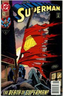 Superman 75 death of superman dc comics moartea lui