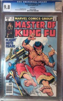 Master Kung-Fu 82 benzi desenate incapsulate CGC 9.8