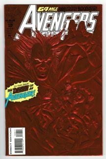 Avengers West Coast 100 red foil variant comic